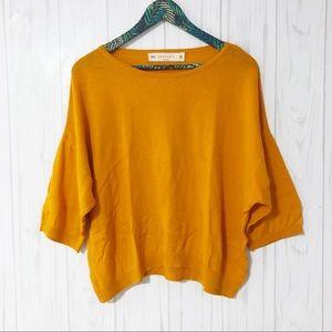 SALE Zara Knit Orange Quarter Length Sleeve M
